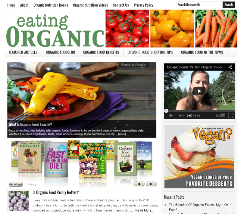 Organic Food Website