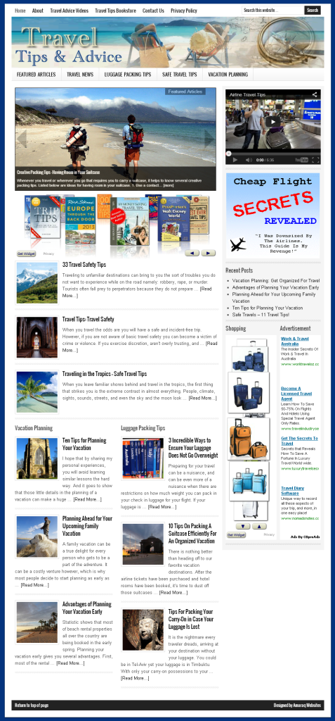 Travel Tips Home Page