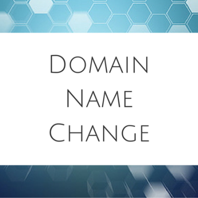 Domain Name Change