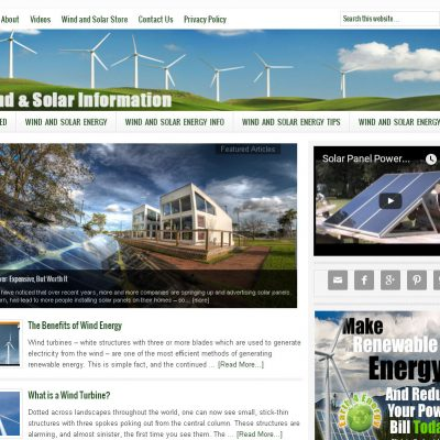 Wind and Solar Energy Website