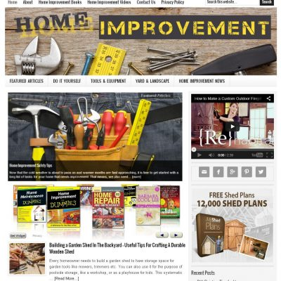 home improvement website for sale