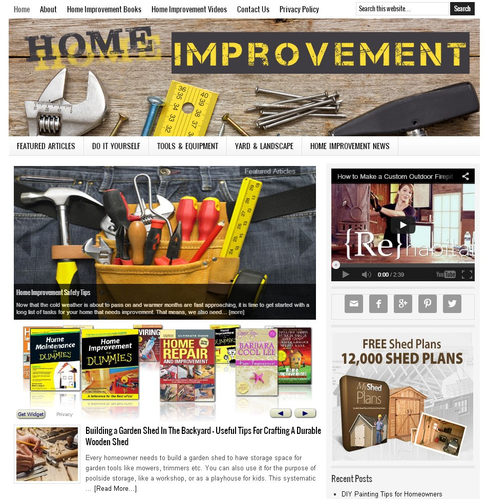 Home Improvement Website