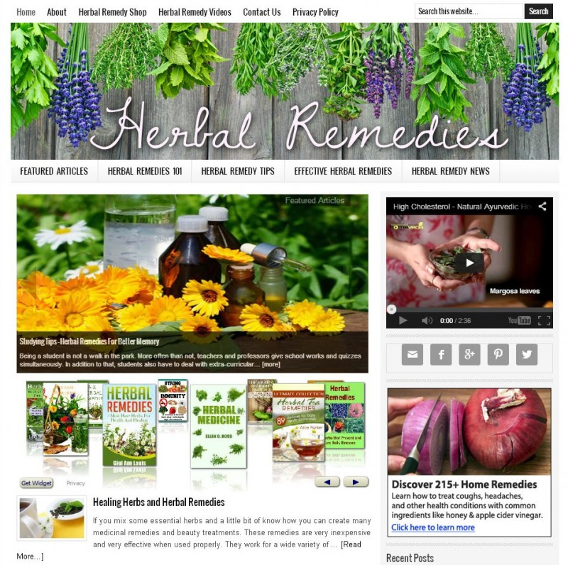 Herbal Remedy Website