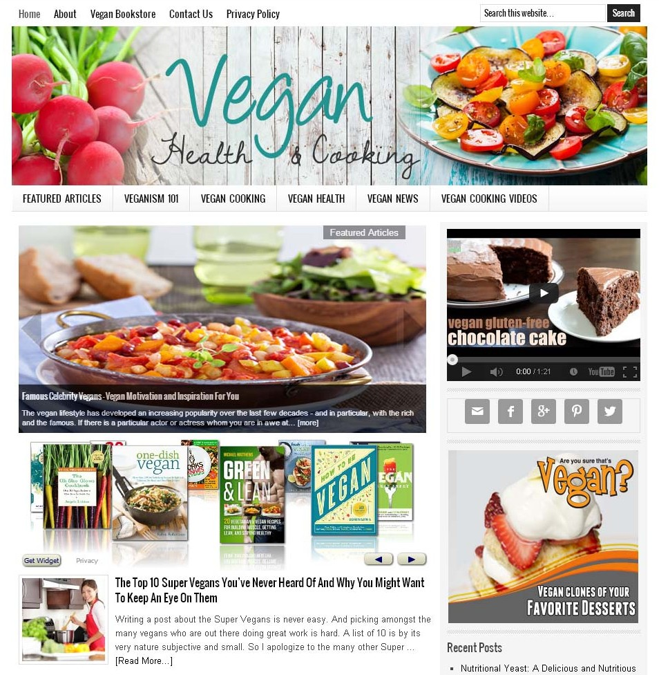 Vegan Cooking Website