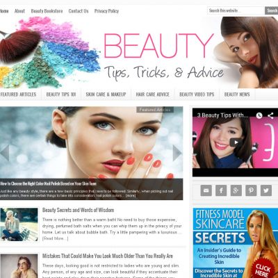 Beauty Tips Website for Sale
