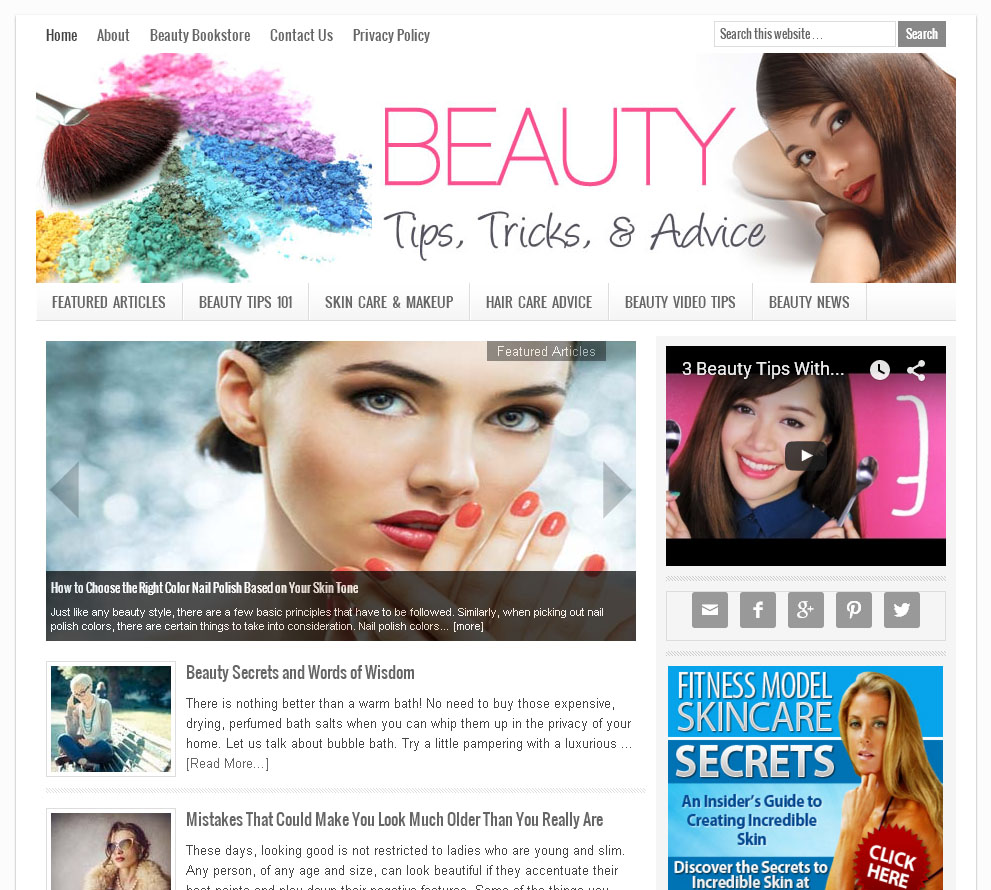 websites for beauty tips - Beauty Tips Website | Amaraq Websites