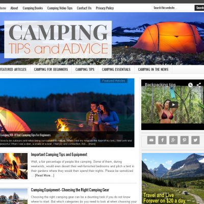 Camping Tips Website for Sale