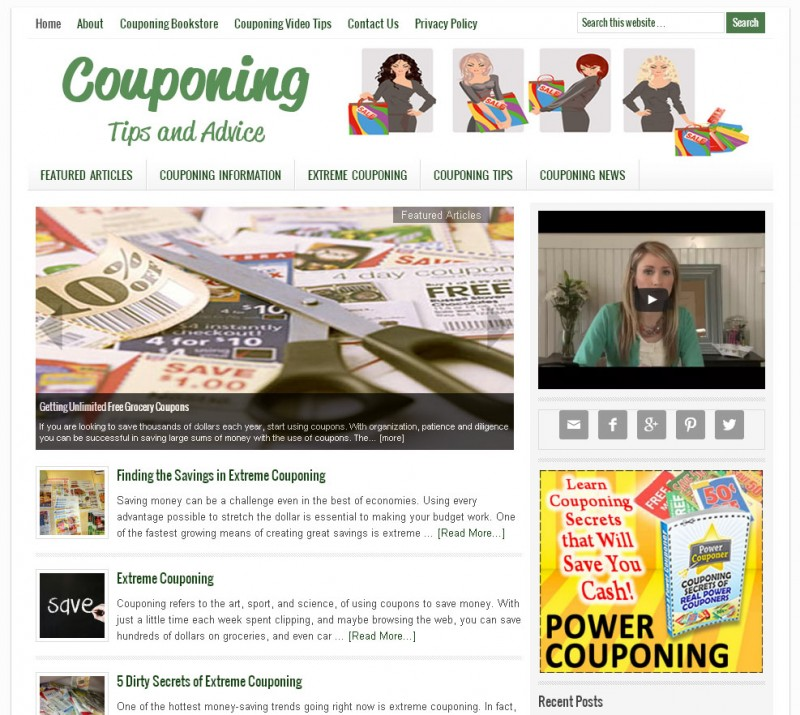 Extreme couponing websites