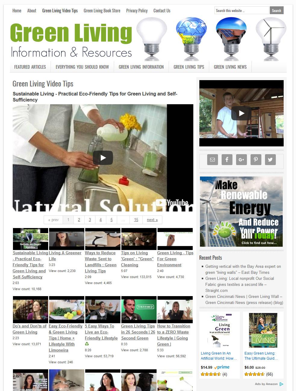 Green Living Website Amaraq Websites