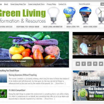 Green Living Website for Sale