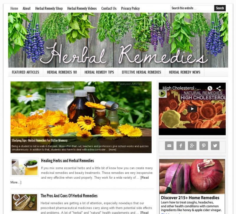 Herbal Remedies Website for Sale