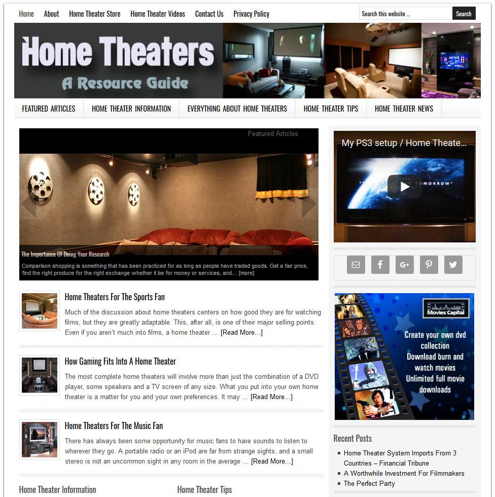 Home Theater Website | Amaraq Websites