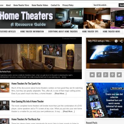 Home Theater Website for Sale