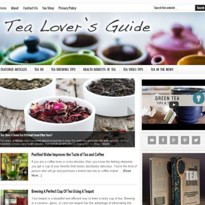Tea Lover Website for Sale