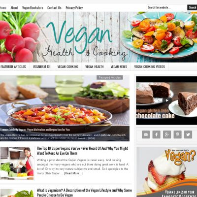 Vegan Website for Sale