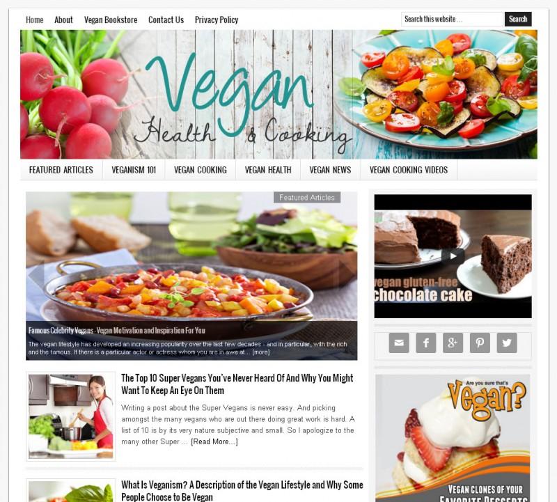 Vegan Website for Sale