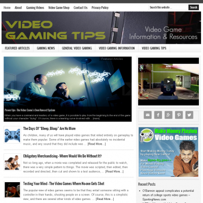 Video-Gaming-Website-For-Sale
