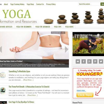 Yoga Website for Sale
