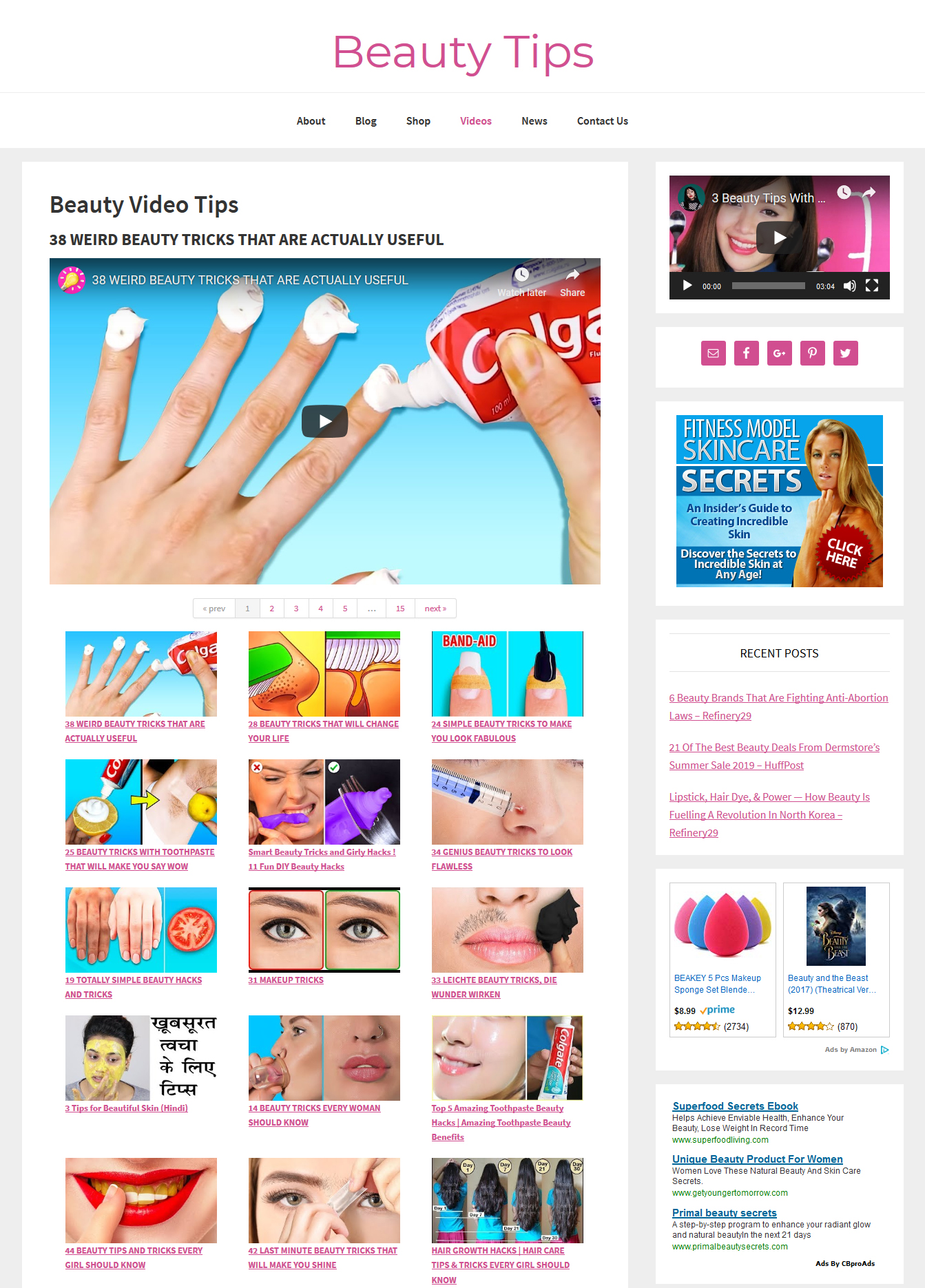 Beauty Tips Website