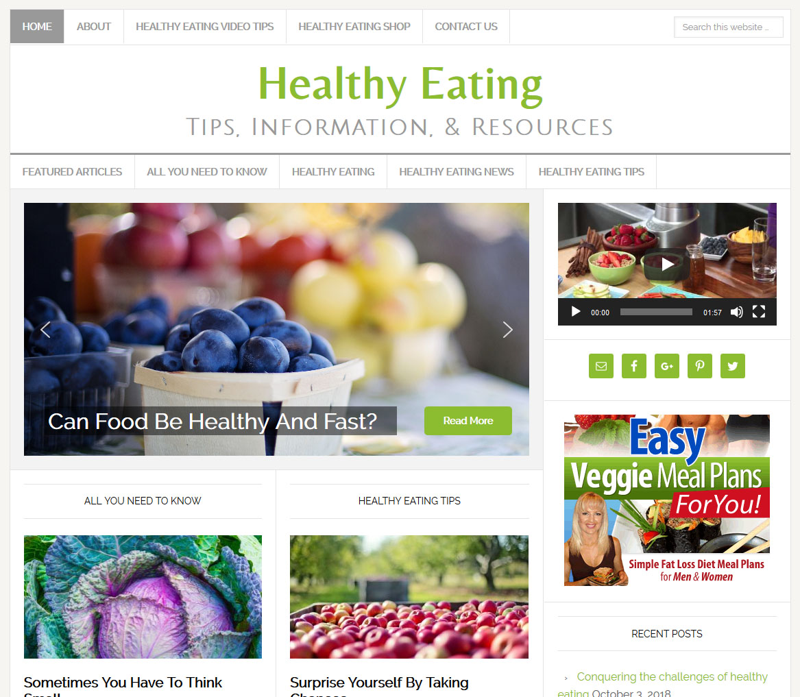 Healthy Eating Website Amaraq Websites