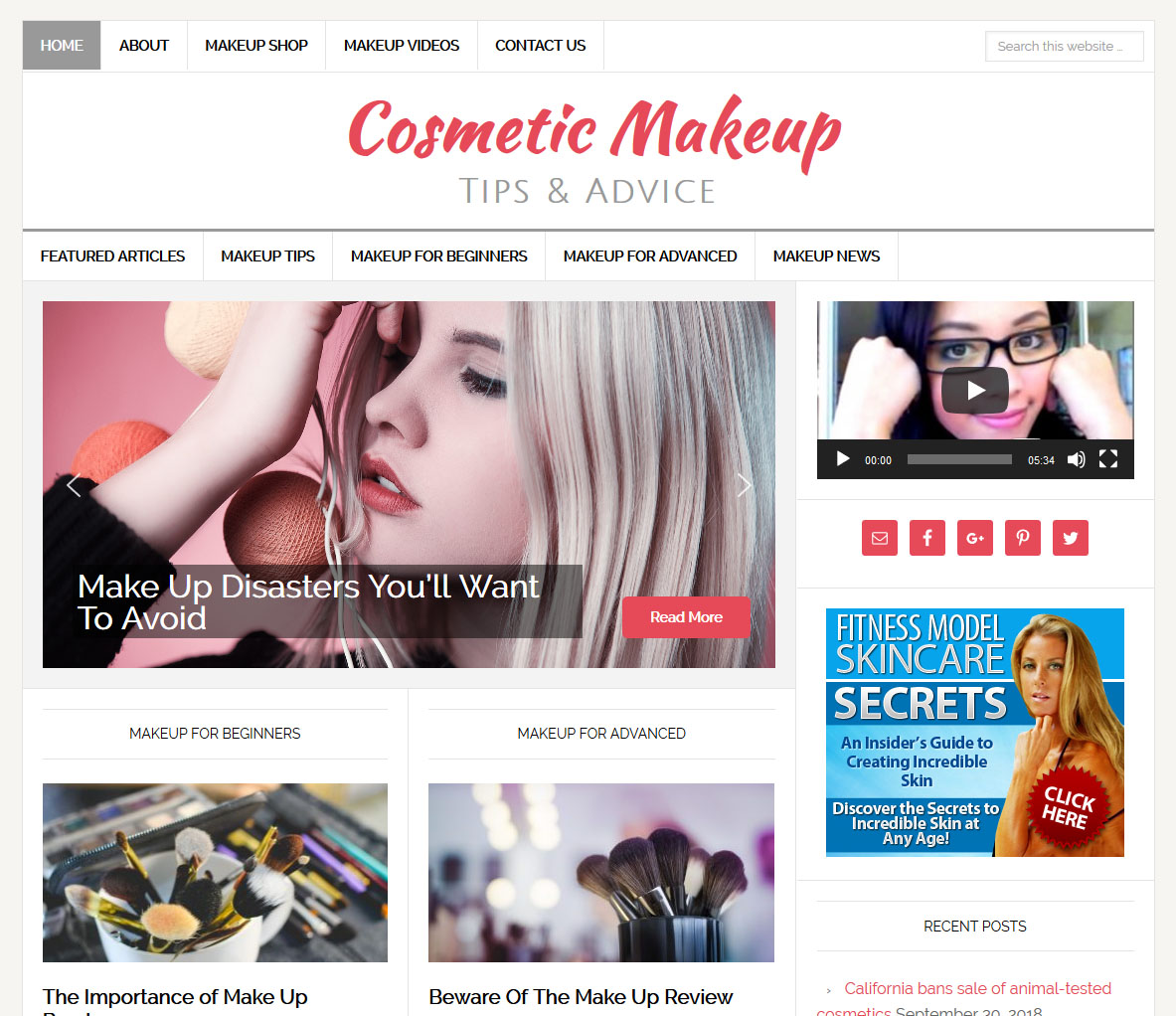 Cosmetic Makeup Website Amaraq Websites