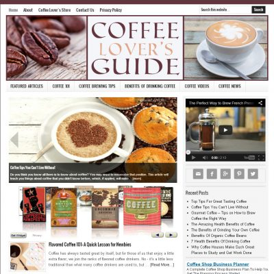 Coffee Lover Website for Sale