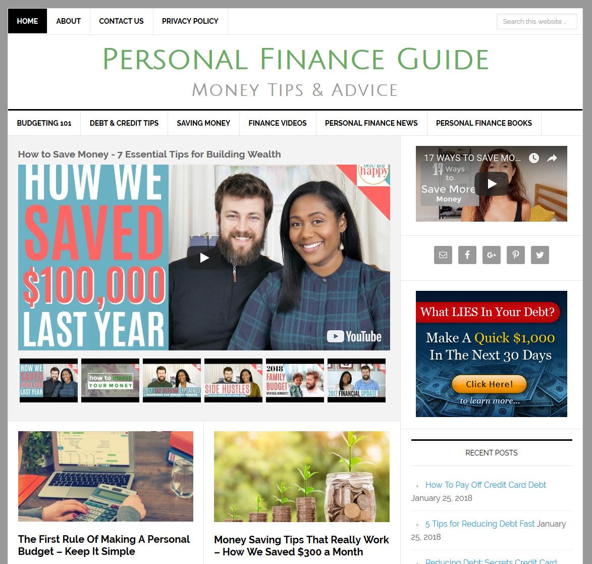 personal finance website amaraq websites