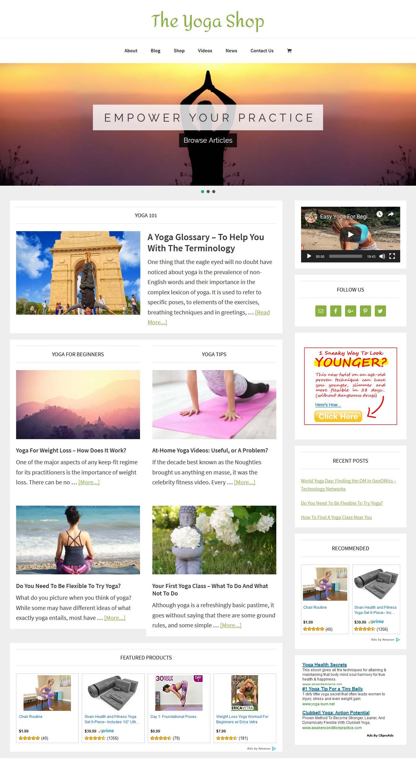 Yoga Shop | Amaraq Websites