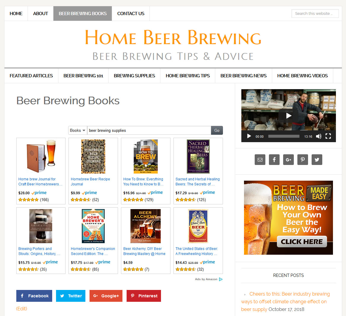 Home Store Website: Home Beer Brewing Website