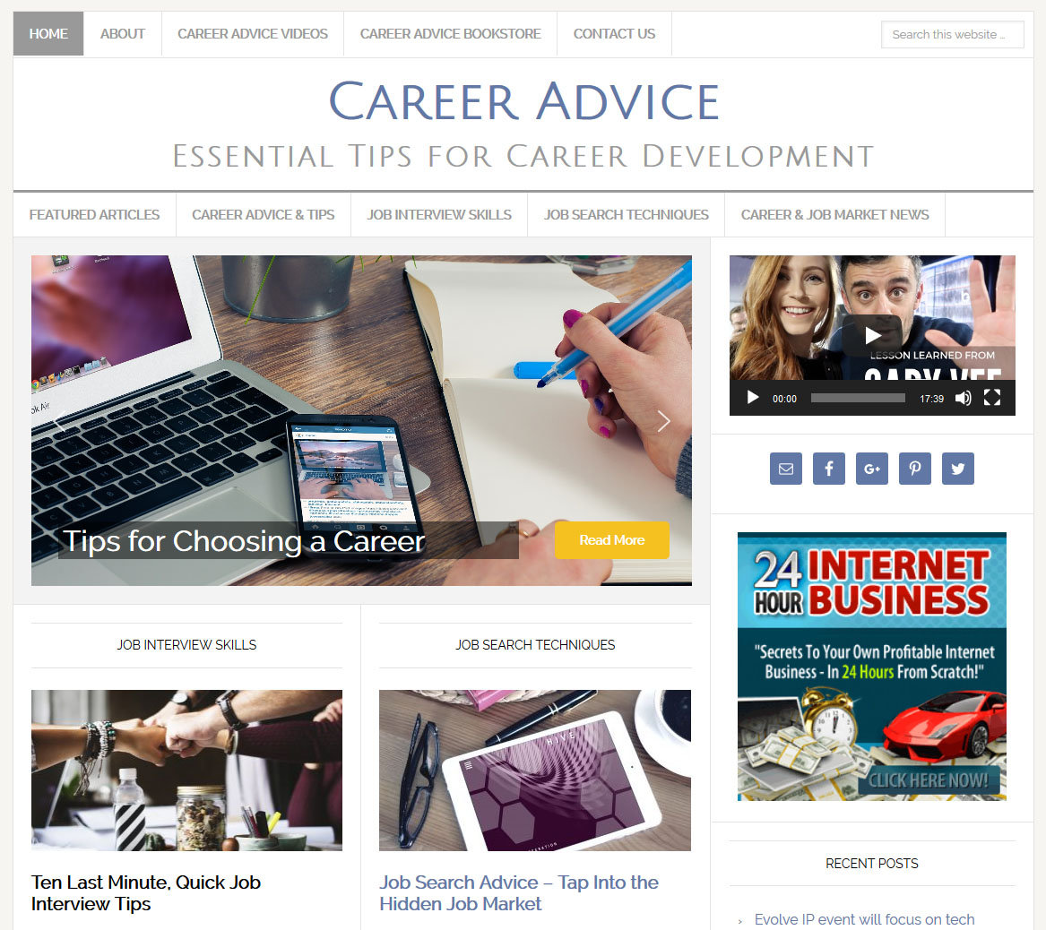 Career Advice Website | Amaraq Websites